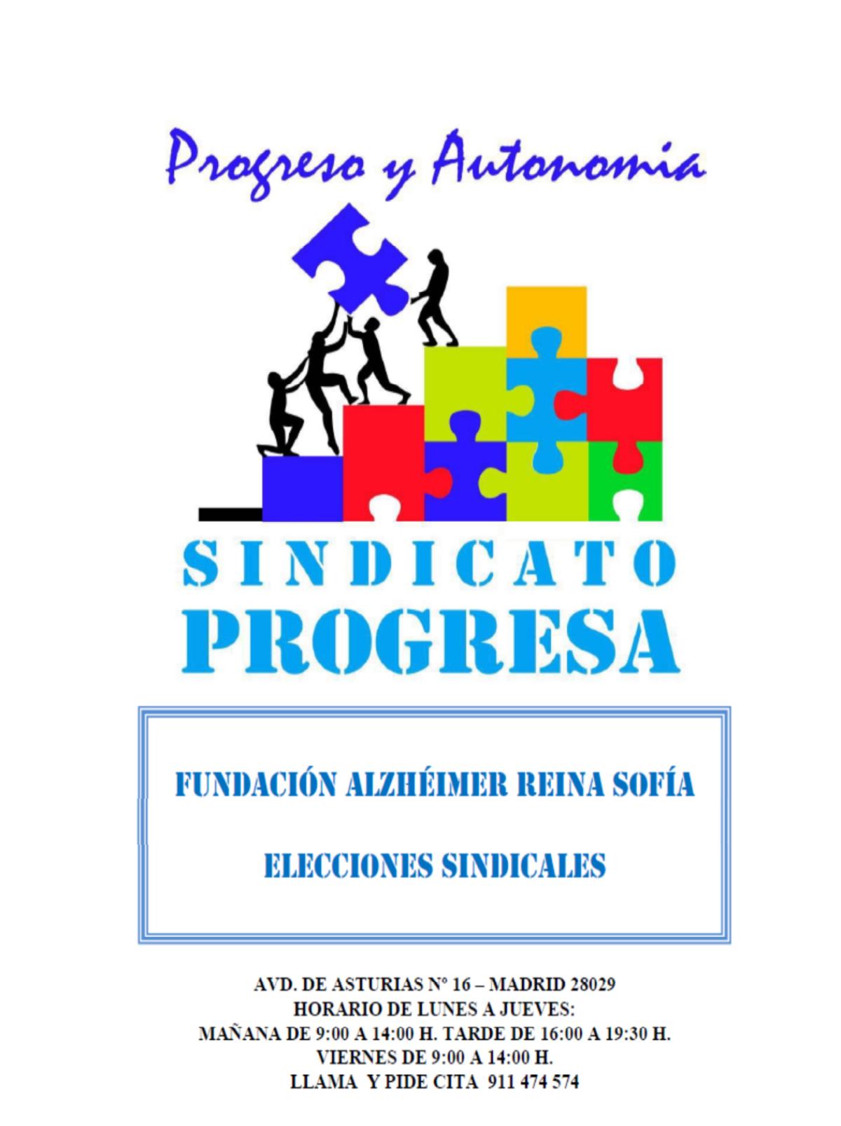 ELECCIONES SINDICALES FUNDACIÓN ALZHÉHIMER REINA SOFÍA