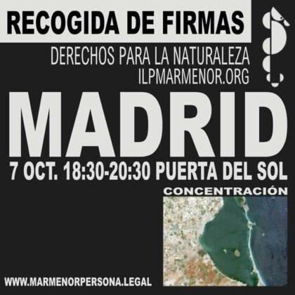 MADRID NECESITA VOLUNTARIOS PARA SALVAR EL MAR MENOR